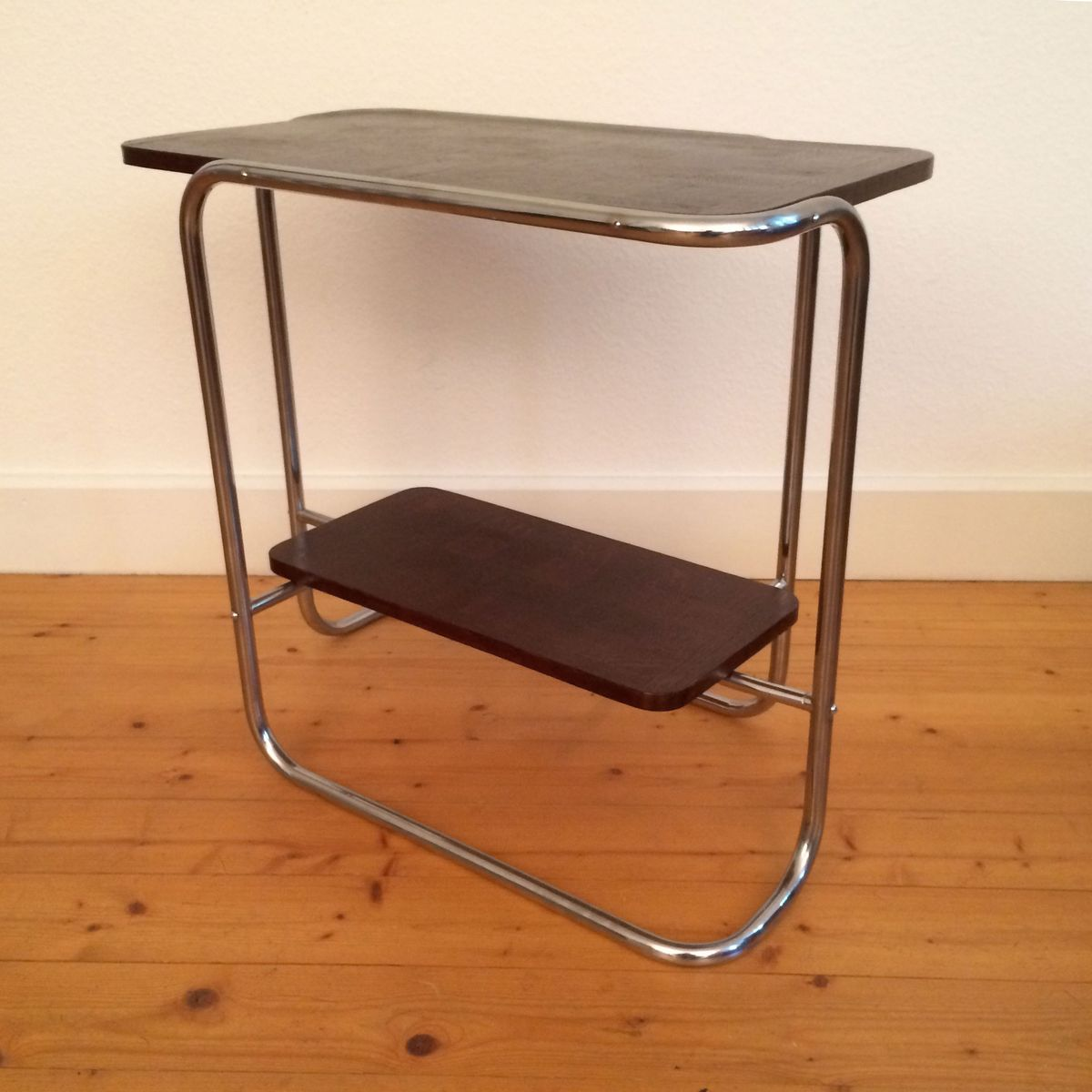 vintage bauhaus tubular steel table for sale at pamono. Black Bedroom Furniture Sets. Home Design Ideas
