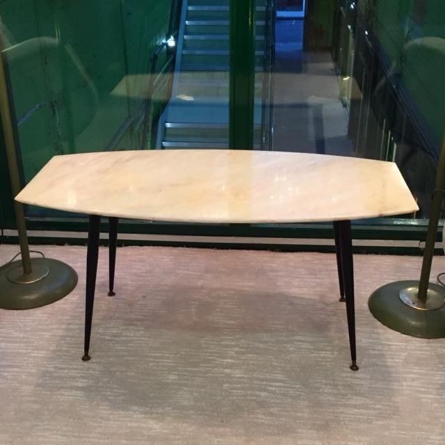Marble Coffee Table For Sale Singapore: Italian Coffee Table With Marble Top, 1950s For Sale At Pamono