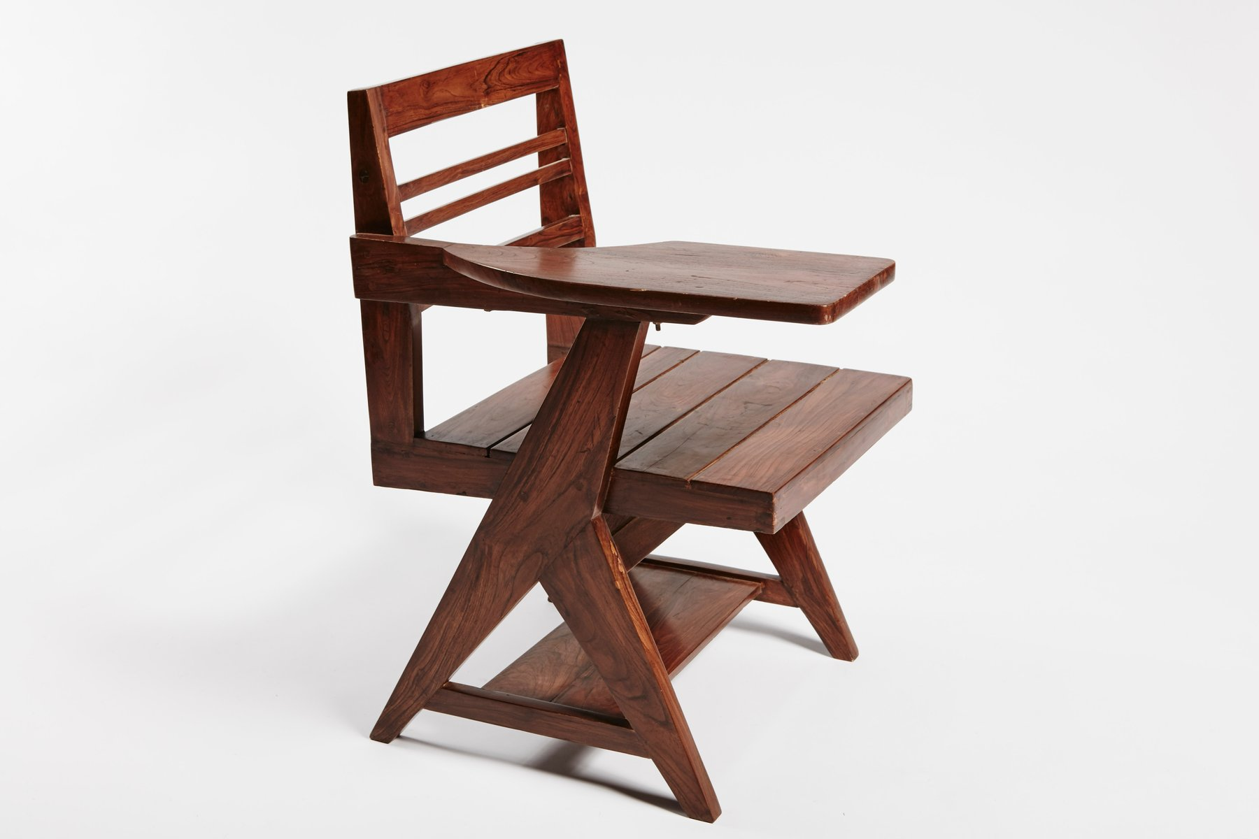 Class Writing Desk Chair by Pierre Jeanneret for sale at Pamono