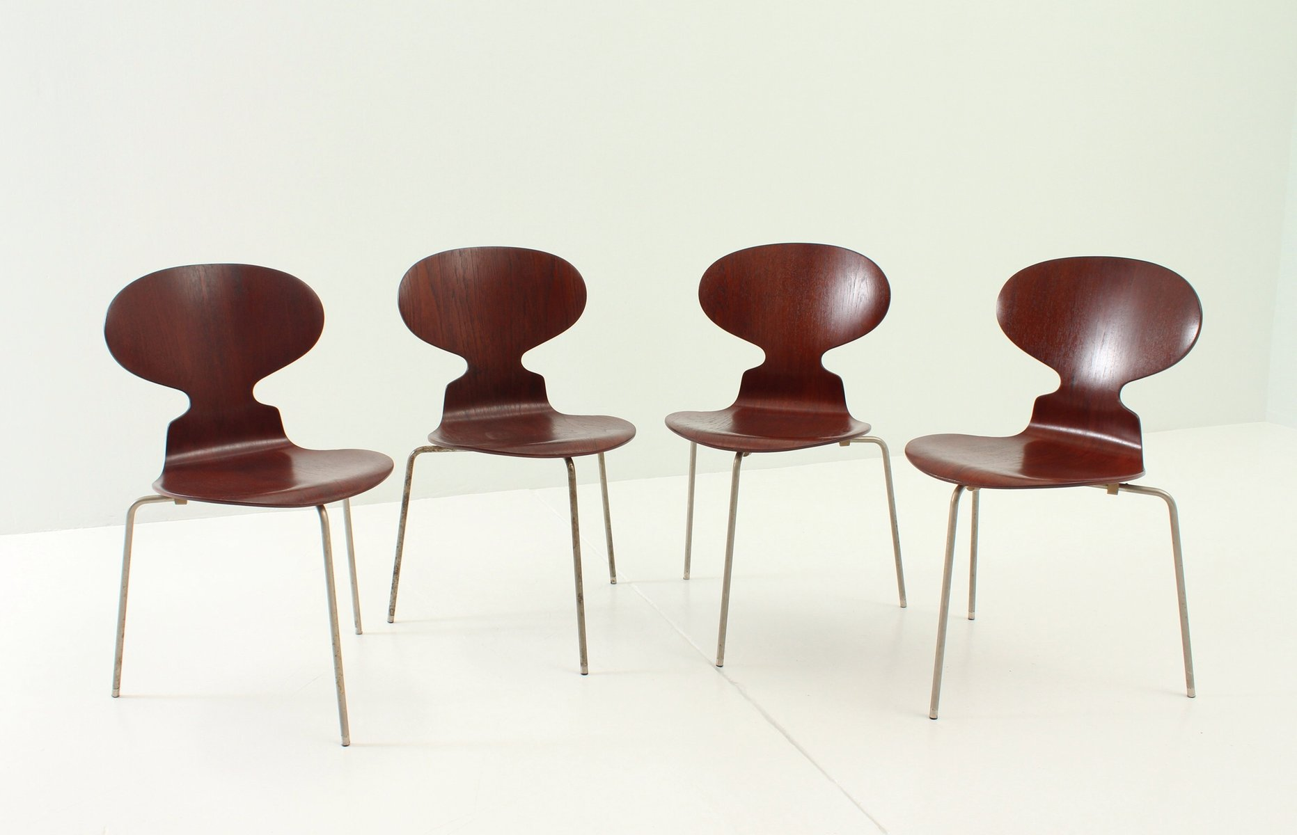 Early Ant Chairs by Arne Jacobsen for Fritz Hansen 1950s Set of