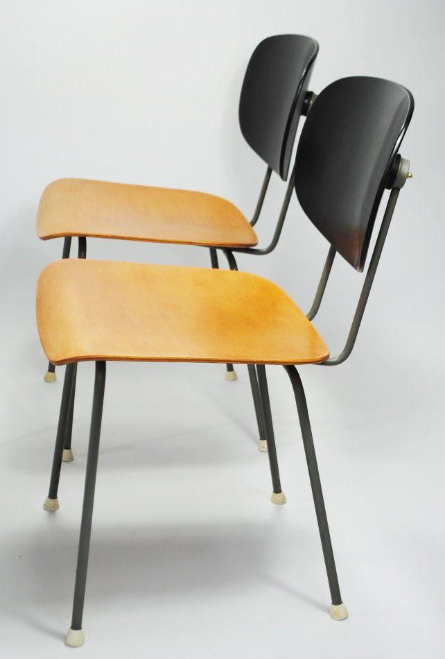 modell 116 stuhl von wim rietveld f r gispen 1950er bei pamono kaufen. Black Bedroom Furniture Sets. Home Design Ideas