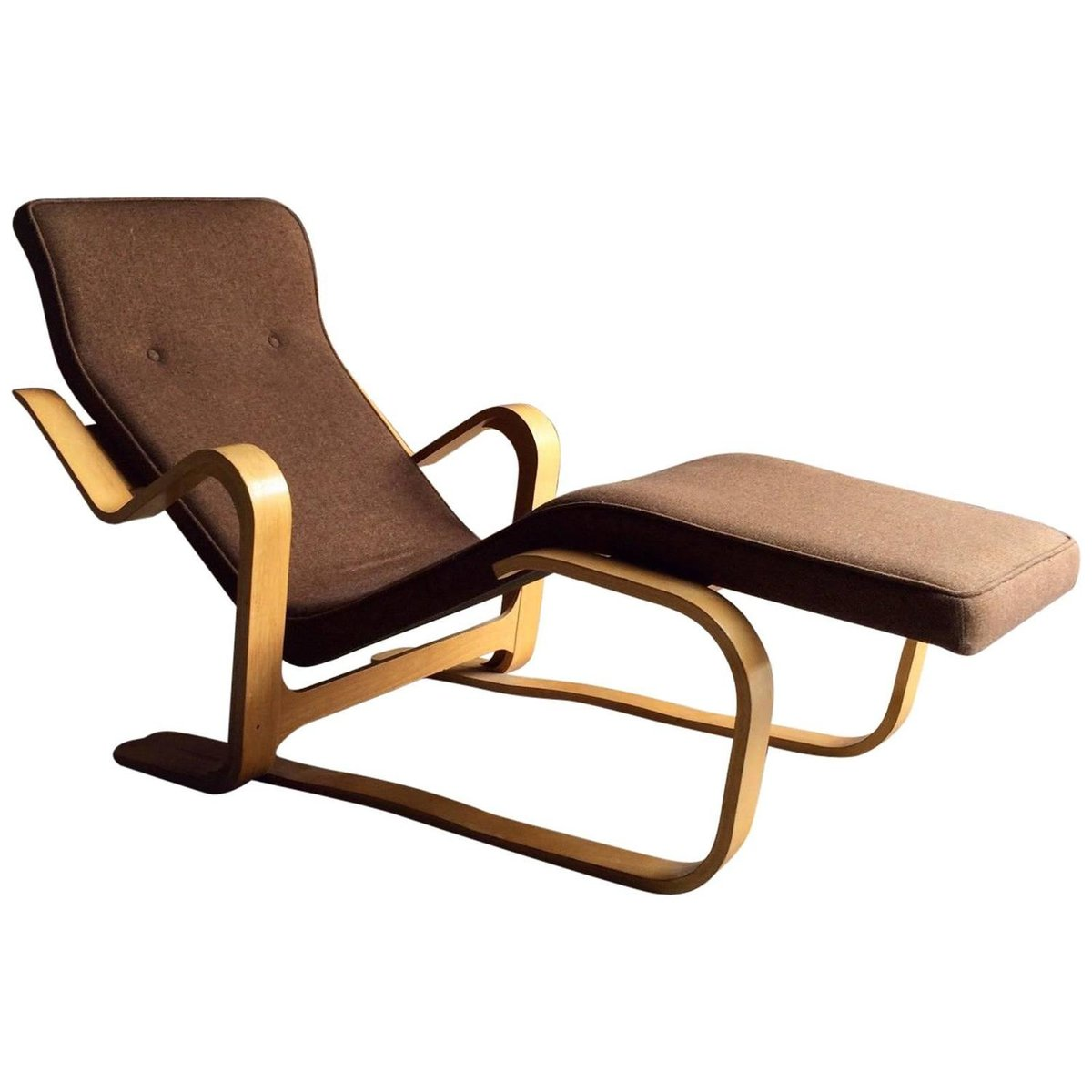 mid century long chair by marcel breuer 1970s for sale at. Black Bedroom Furniture Sets. Home Design Ideas