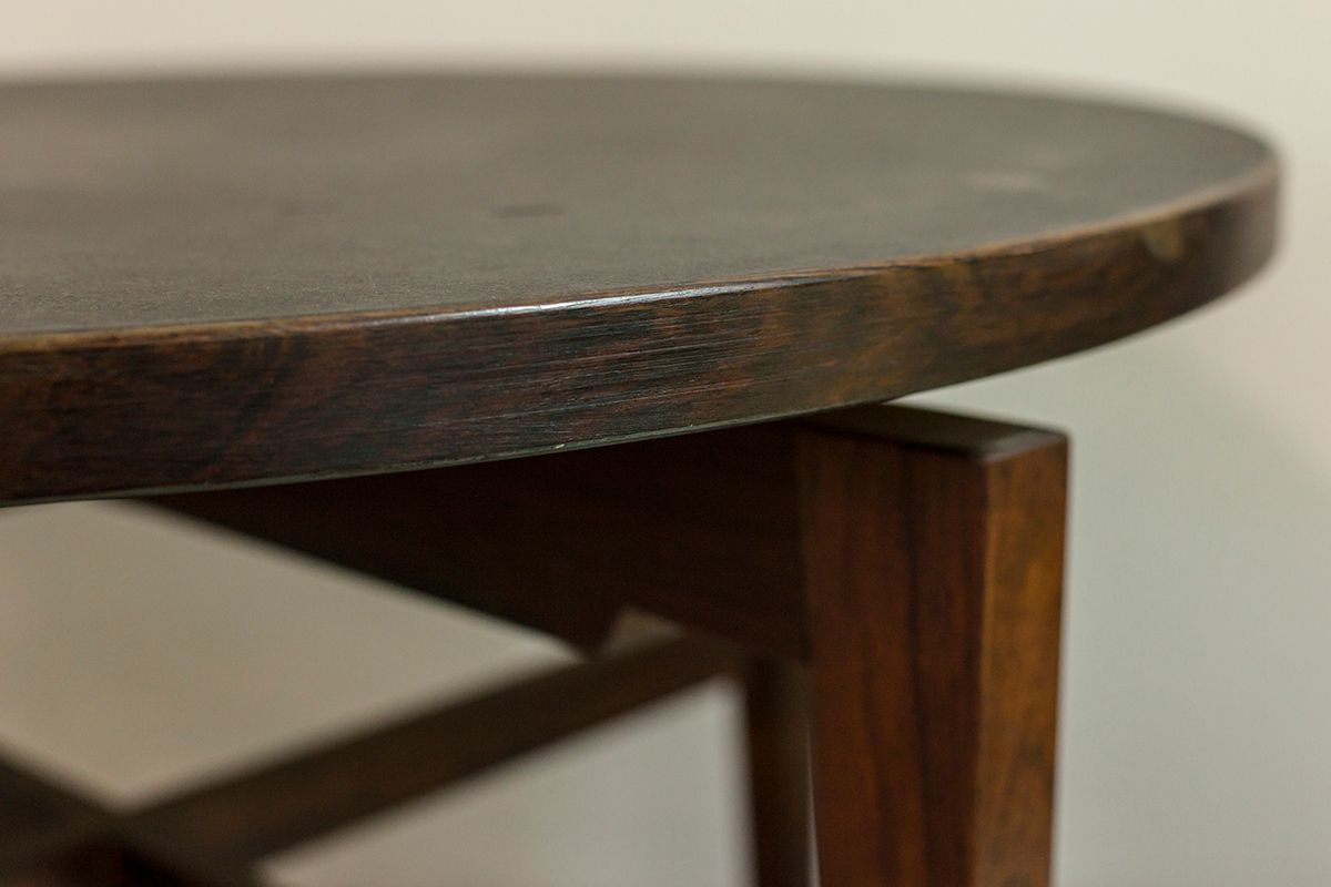 Round rosewood and linoleum table by jens risom for sale at pamono round rosewood and linoleum table by jens risom geotapseo Choice Image