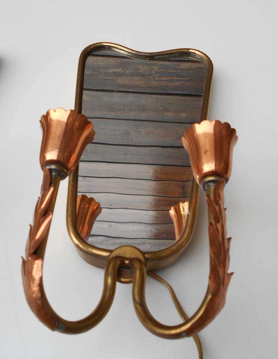 wandlampen mit spiegel von pietro chiesa f r fontana arte 1920er 2er set bei pamono kaufen. Black Bedroom Furniture Sets. Home Design Ideas