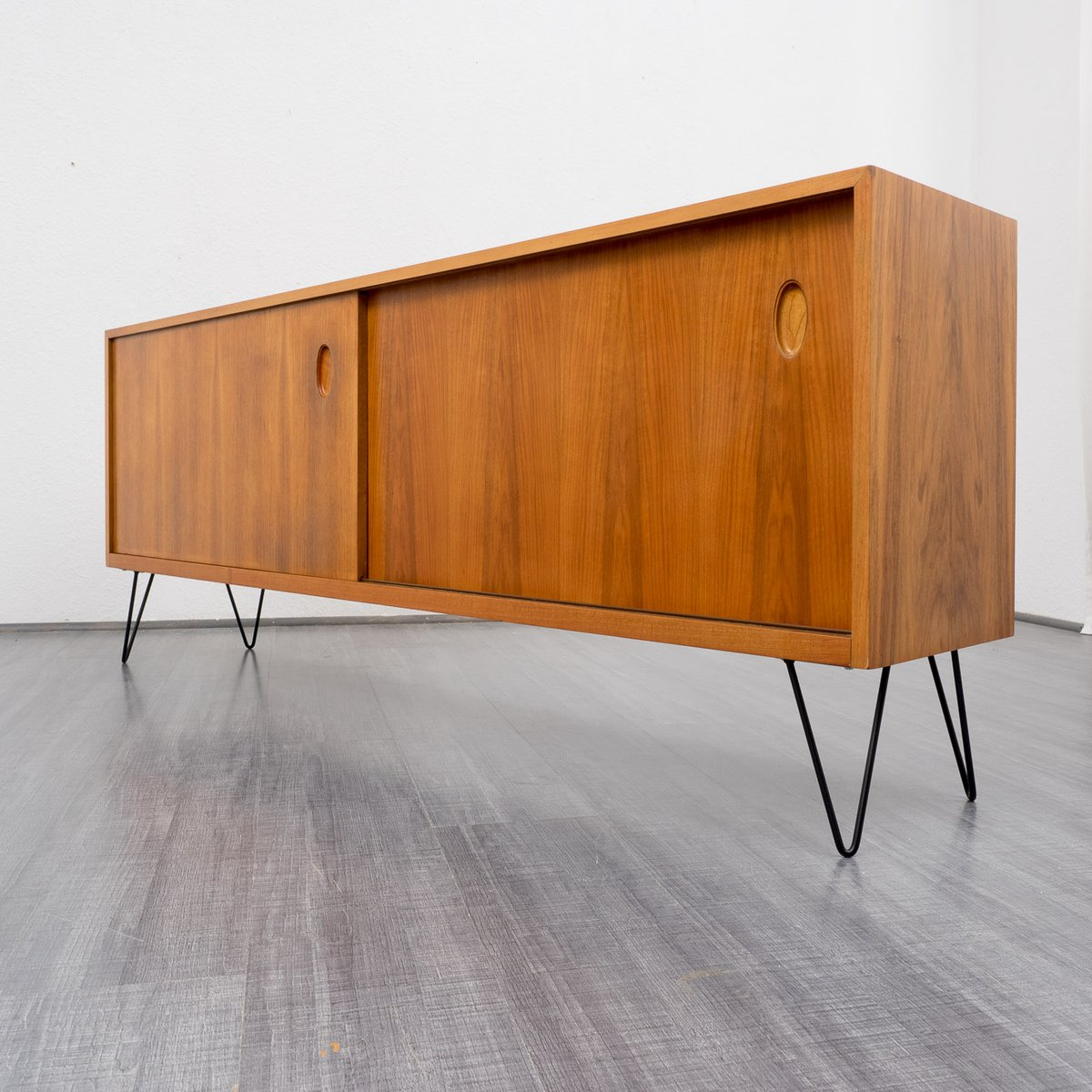vintage walnut sideboard by georg satink for wk m bel for sale at pamono. Black Bedroom Furniture Sets. Home Design Ideas