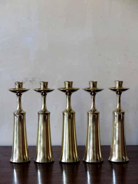 Brass Candlesticks brass candlesticksjens harald quistgaard for dansk design, set