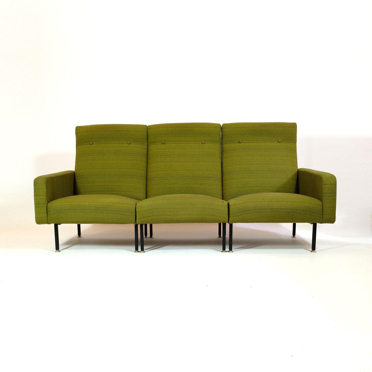 gr nes franz sisches modular sofa von steiner bei pamono. Black Bedroom Furniture Sets. Home Design Ideas