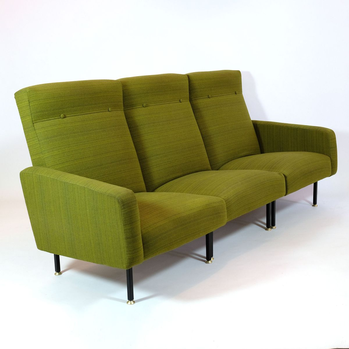French Green Modular Sofa From Steiner For Sale At Pamono