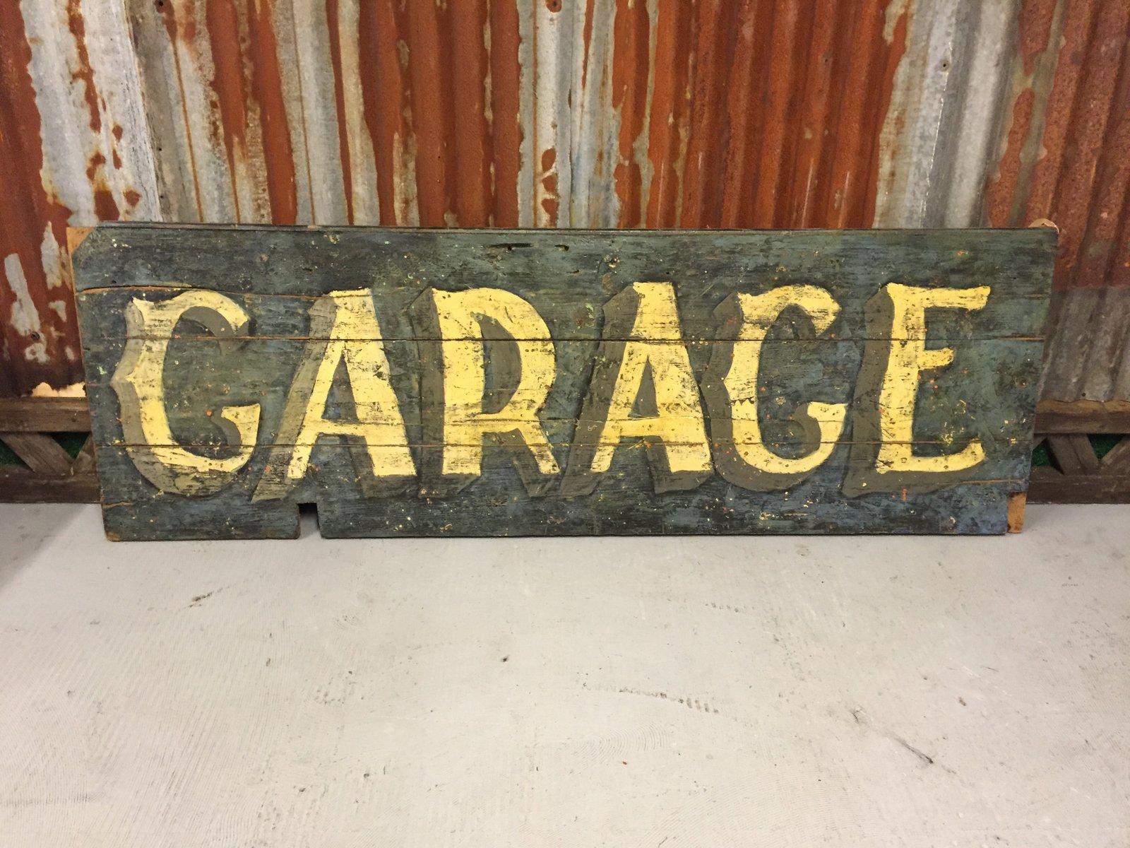 Panneau de garage vintage en bois 1930s en vente sur pamono for Garage en panneau sandwich
