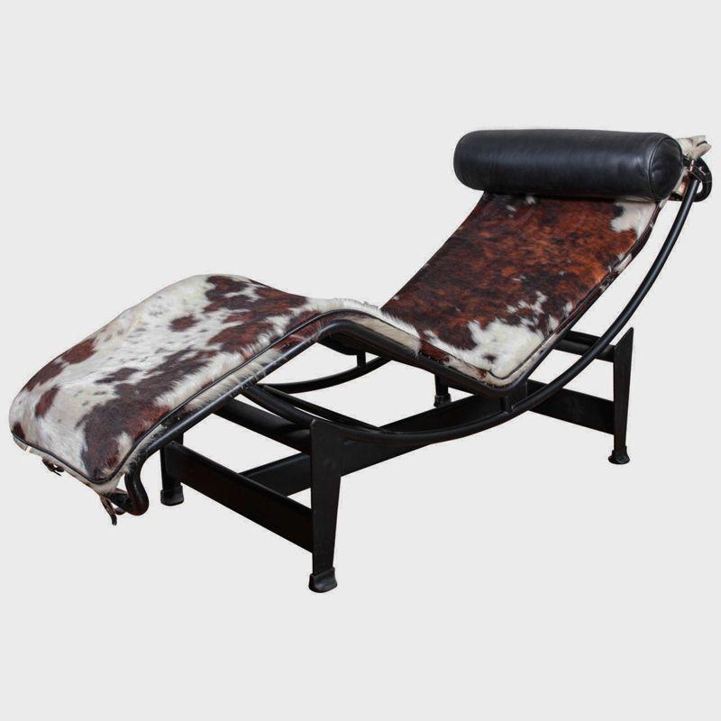 Chaise longue lc4 par le corbusier pour cassina 1960s en for Chaise longue pour deux