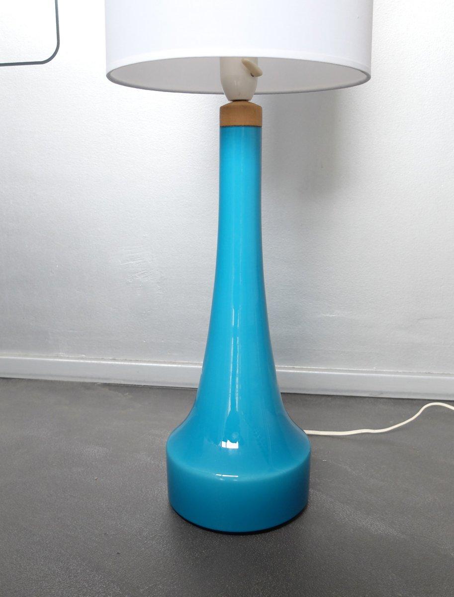 danish glass table lamp from holmegaard glasvaerk for sale. Black Bedroom Furniture Sets. Home Design Ideas