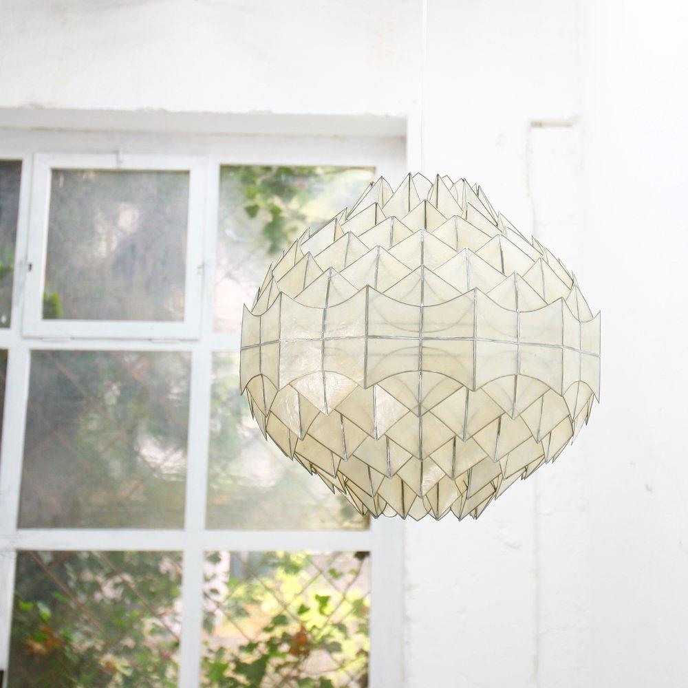 vintage perlmutt h ngelampe bei pamono kaufen. Black Bedroom Furniture Sets. Home Design Ideas