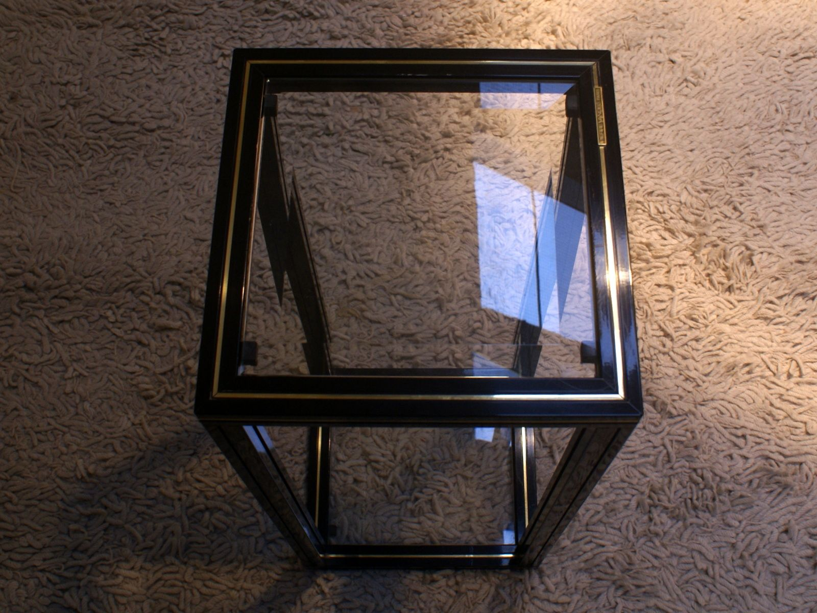 Glass Top Side Table by Pierre Vandel 1970s for sale at Pamono