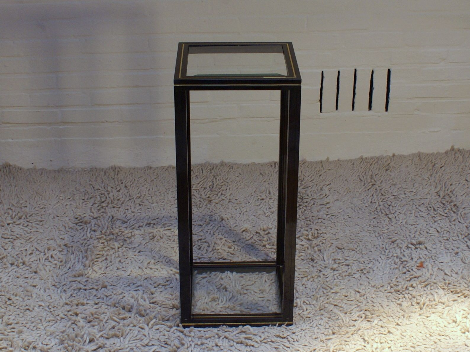 glass top side table by pierre vandel s for sale at pamono - glass top side table by pierre vandel s