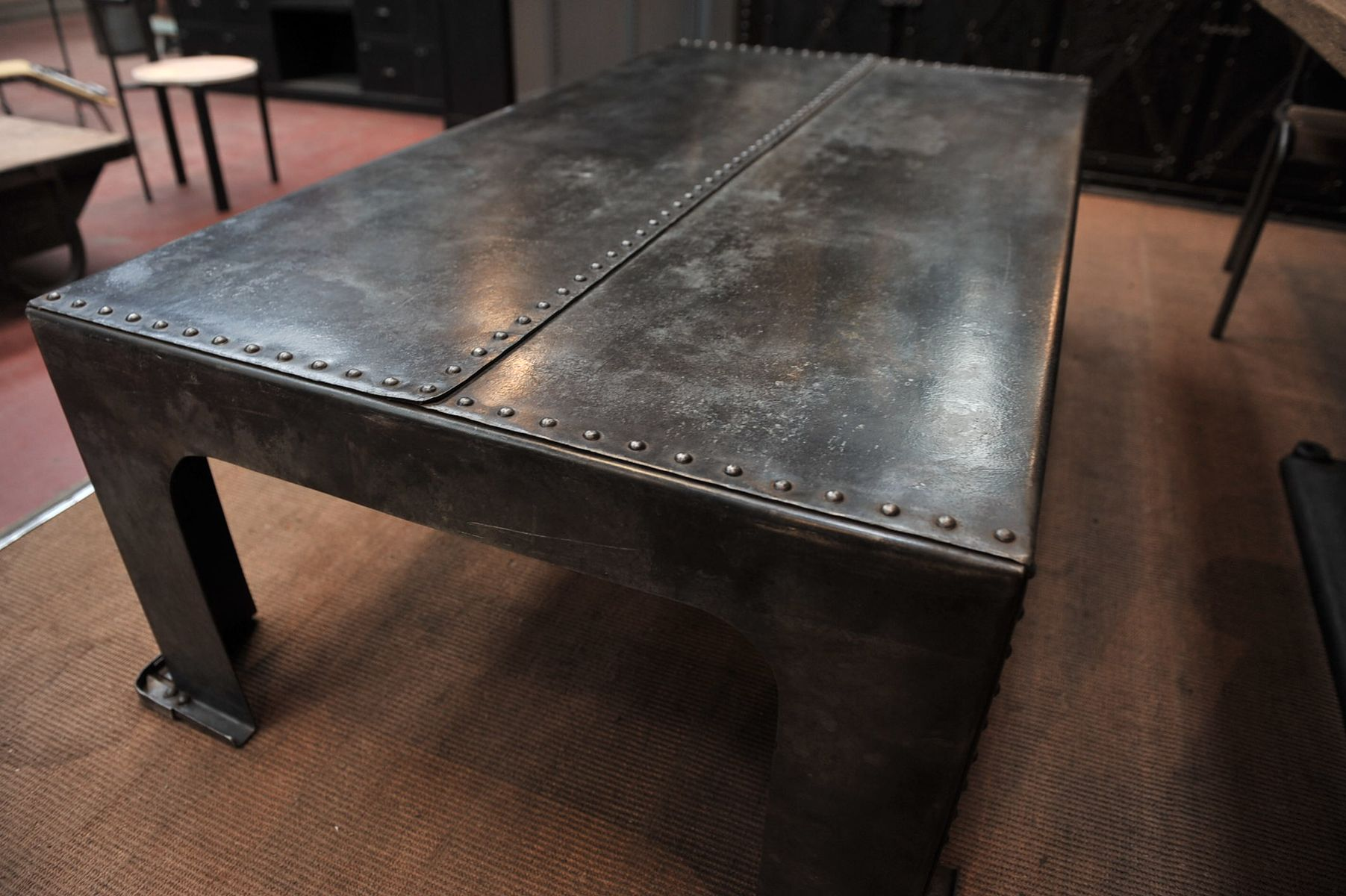 Industrial French Iron Coffee Table 1900s For Sale At Pamono