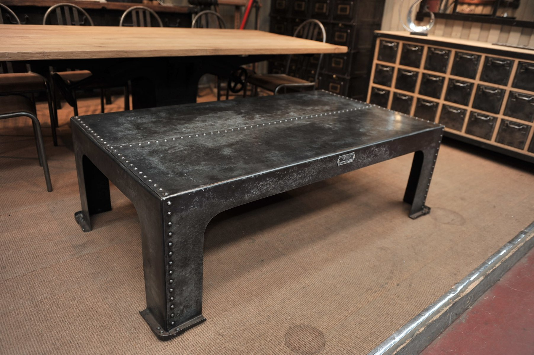 French Industrial Coffee Table Images Table Design Ideas