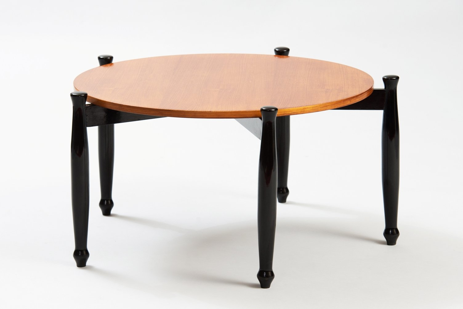Italian Modern Coffee Table With Ebonized Legs For Sale At Pamono