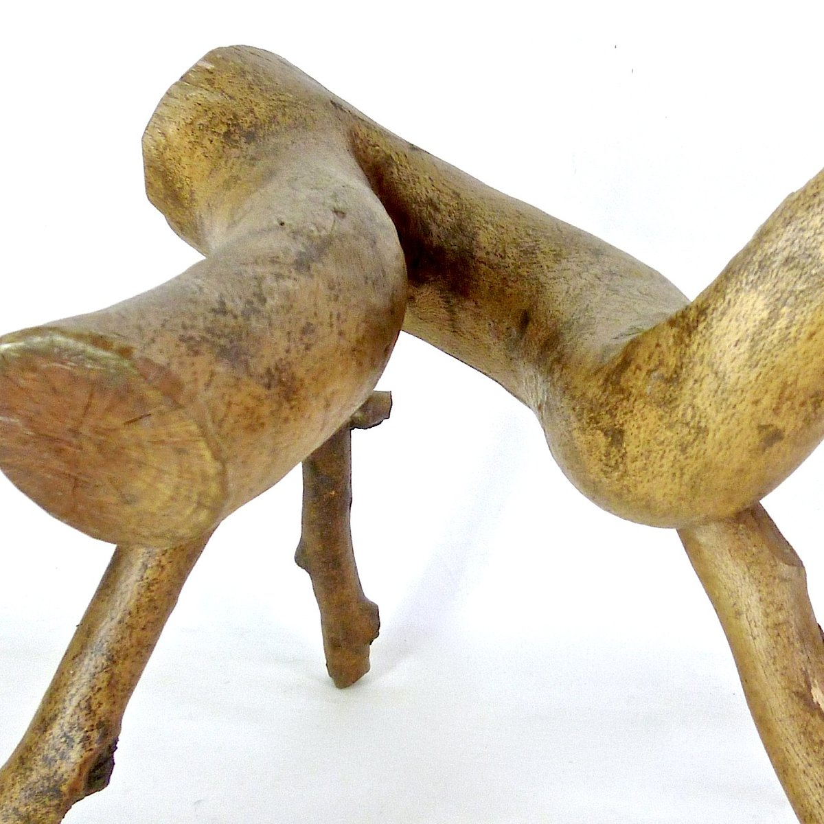 Hand crafted vintage olive wood stool for sale at pamono for Handcrafted or hand crafted