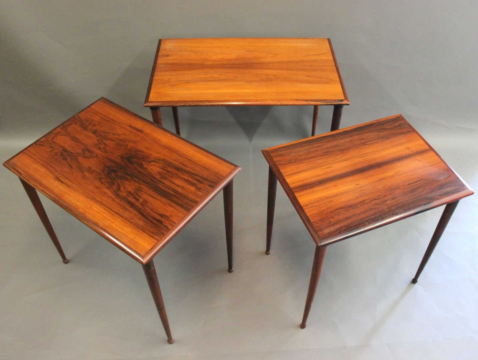 Amazing photo of Rosewood Nesting Tables from BC Møbler 1960s Set of 3 for sale at  with #AD4E1E color and 1594x1200 pixels