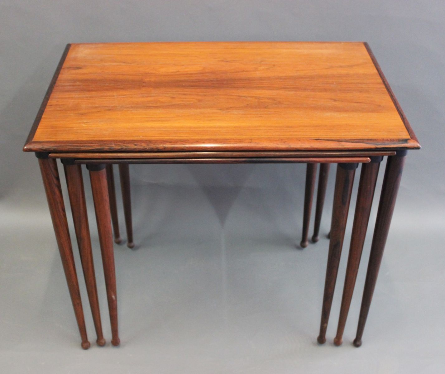 Amazing photo of Rosewood Nesting Tables from BC Møbler 1960s Set of 3 for sale at  with #AD5B1E color and 1428x1200 pixels