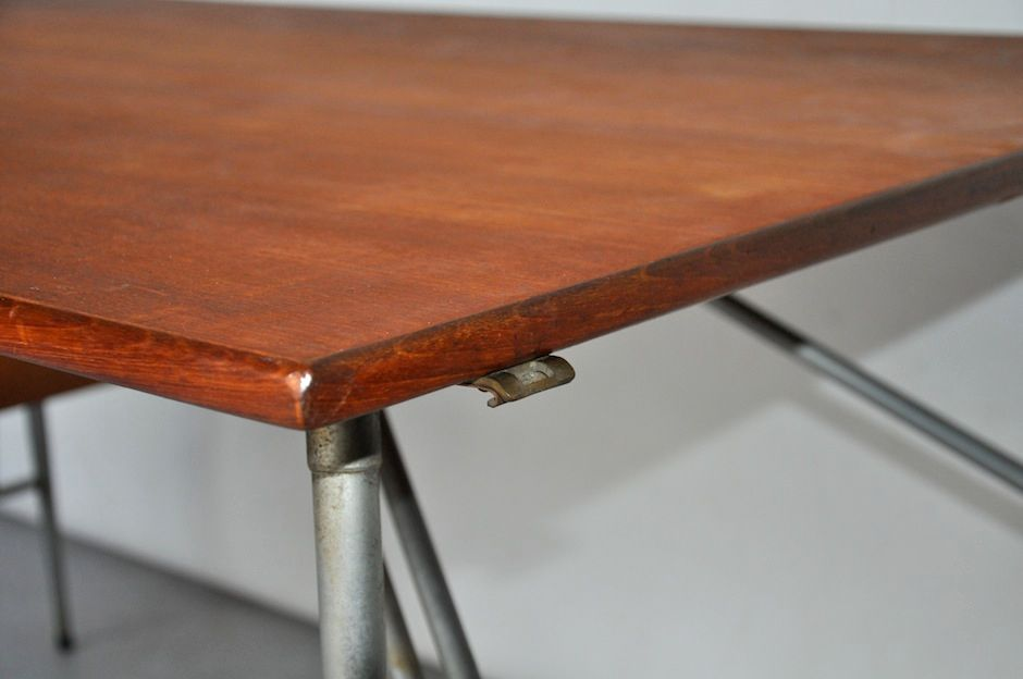 Teak and Metal Desk by Børge Mogensen for Søborgs ...