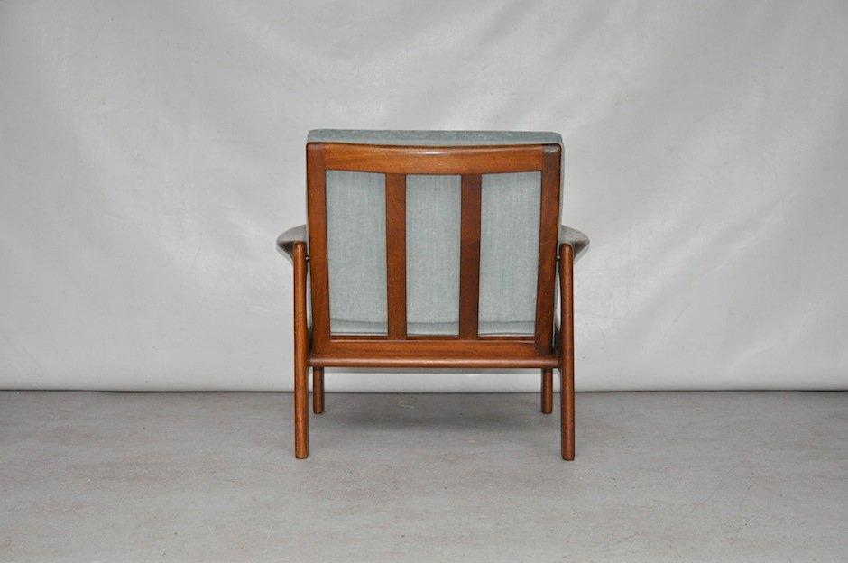 d nischer vintage holz und baumwolle sessel bei pamono kaufen. Black Bedroom Furniture Sets. Home Design Ideas