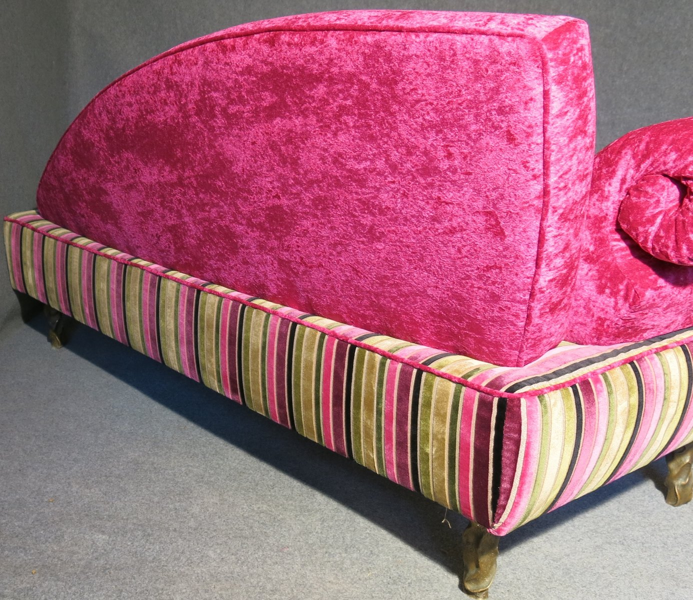 pink italian art deco velvet chaise lounge for sale at pamono - pink italian art deco velvet chaise lounge   price per piece