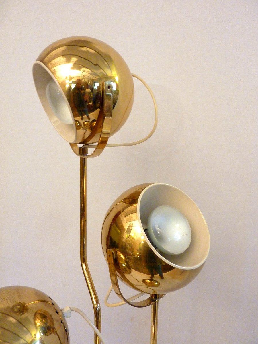 4 armed brass floor lamp by goffredo reggiani for reggiani for 1970s floor lamps
