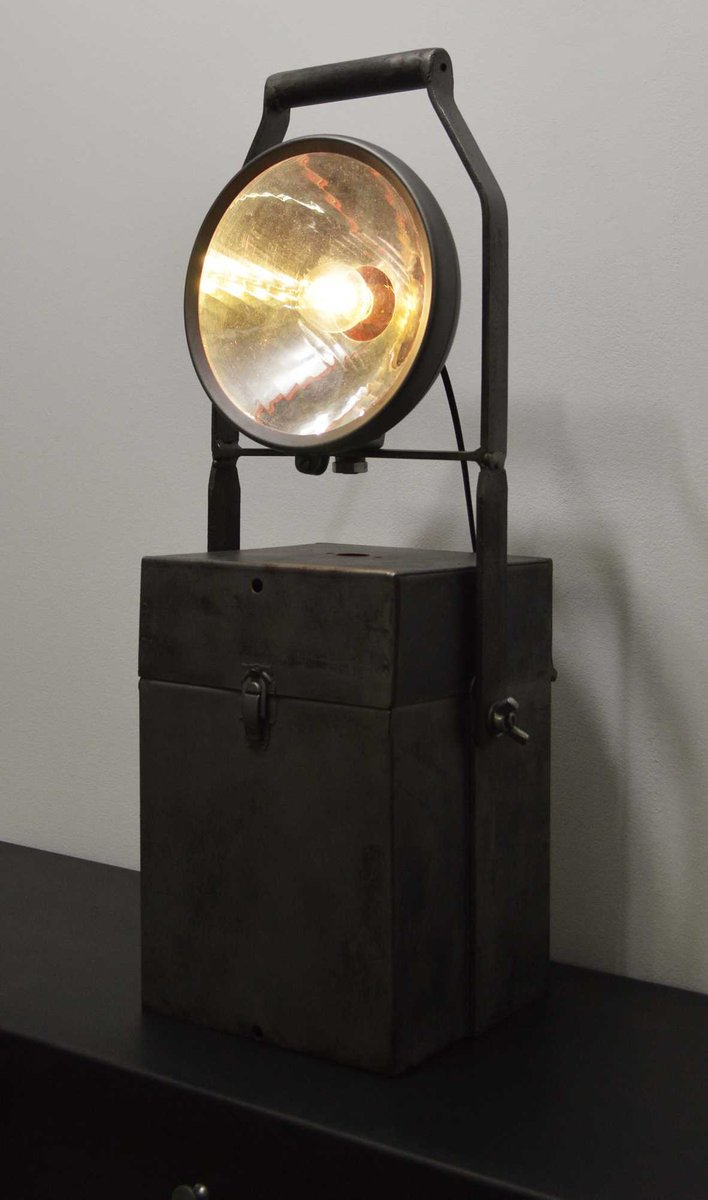 Vintage Industrial Portable Accumulator Lamp for sale at Pamono