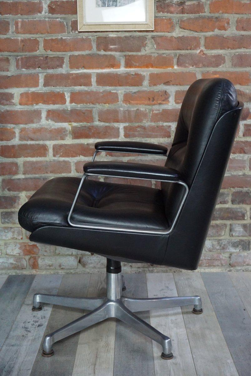 italienischer vintage stuhl mit lederbezug von vaghi bei. Black Bedroom Furniture Sets. Home Design Ideas