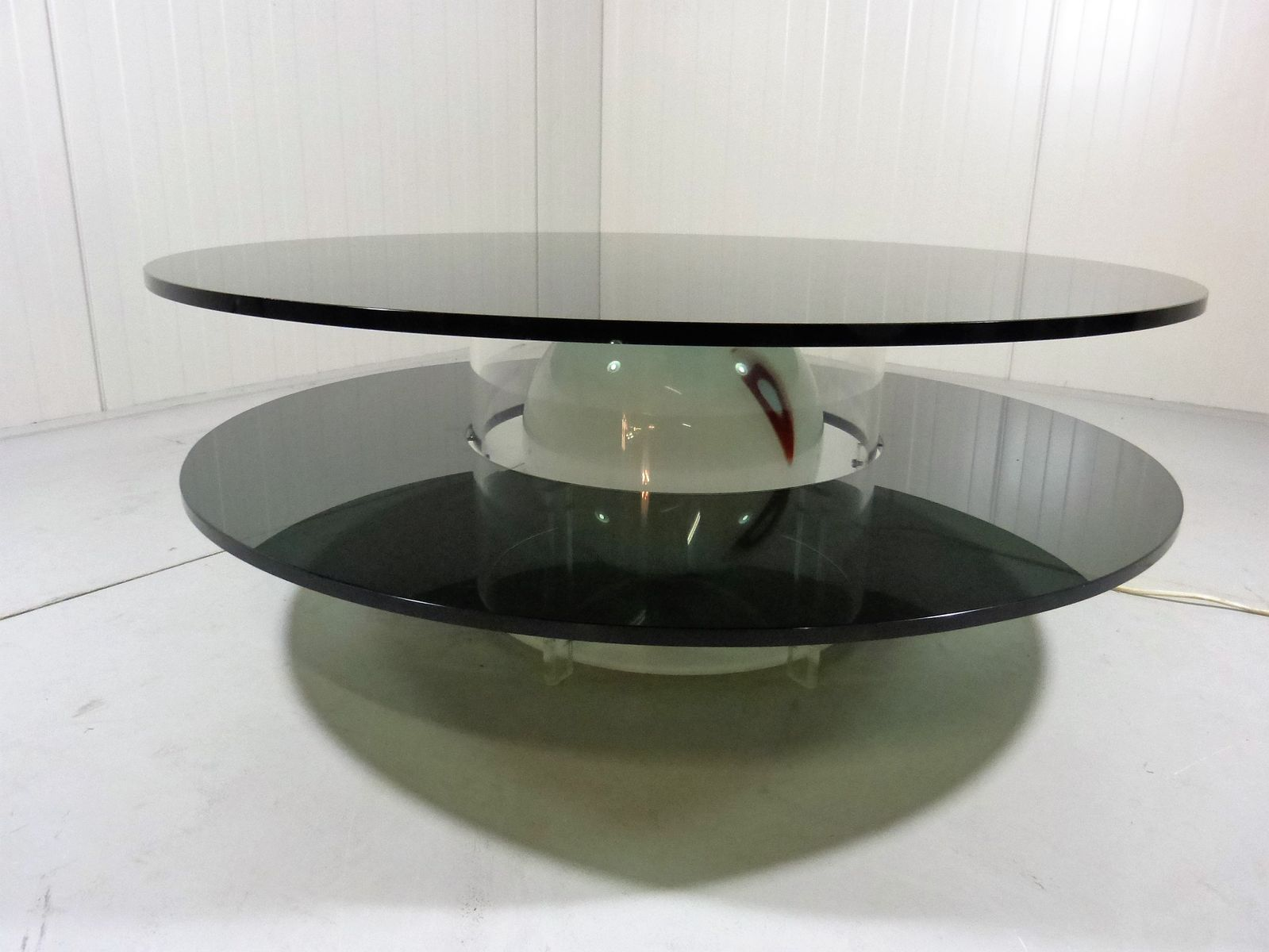 Italian Illuminated Glass Coffee Table For Sale At Pamono