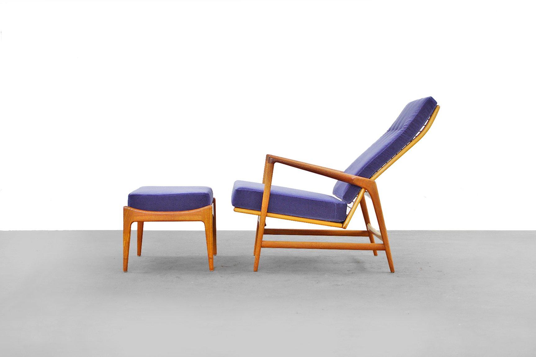 Danish Modern Lounge Chair & Ottoman by Ib Kofod Larsen for Selig