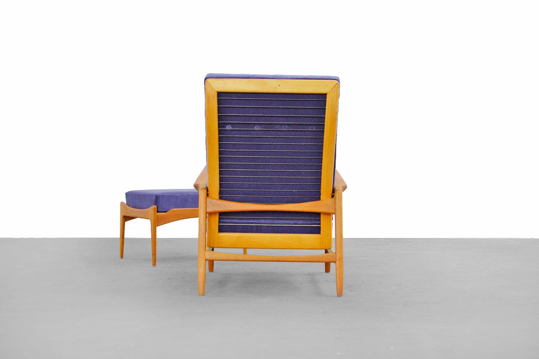 Danish Modern Lounge Chair & Ottoman by Ib Kofod-Larsen for Selig ...