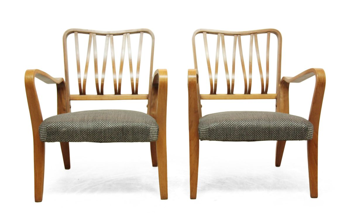 Mid Century Chairs By Eric Lyons For Packet Set Of 2 For