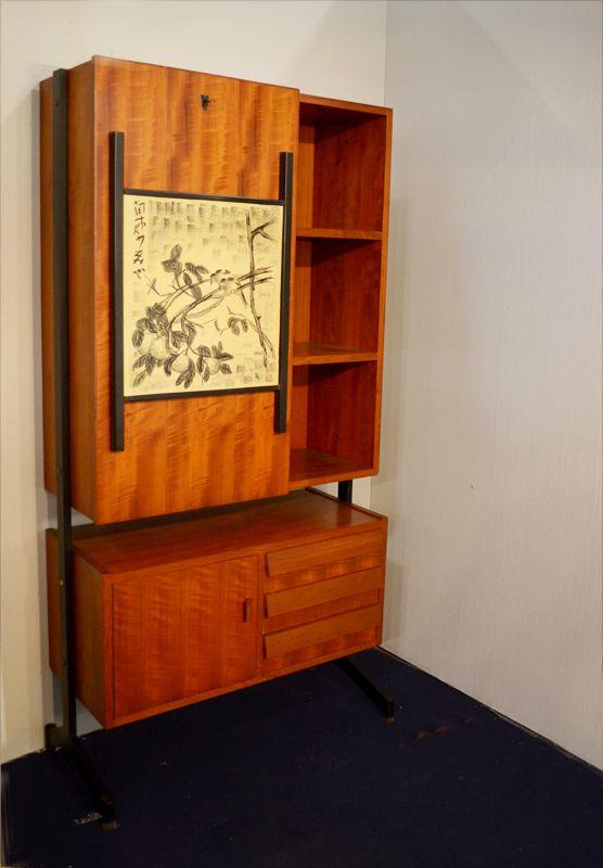 italienischer schrank mit schreibtisch 1950er bei pamono kaufen. Black Bedroom Furniture Sets. Home Design Ideas