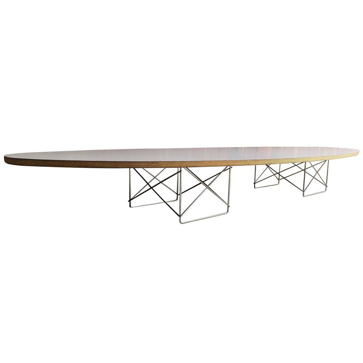 vintage elliptical coffee table by charles ray eames for herman miller 1980s for sale at pamono. Black Bedroom Furniture Sets. Home Design Ideas