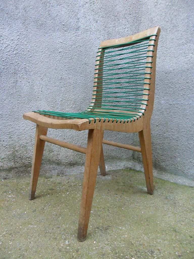 stuhl aus eichenholz kunststoff von louis sognot bei pamono kaufen. Black Bedroom Furniture Sets. Home Design Ideas