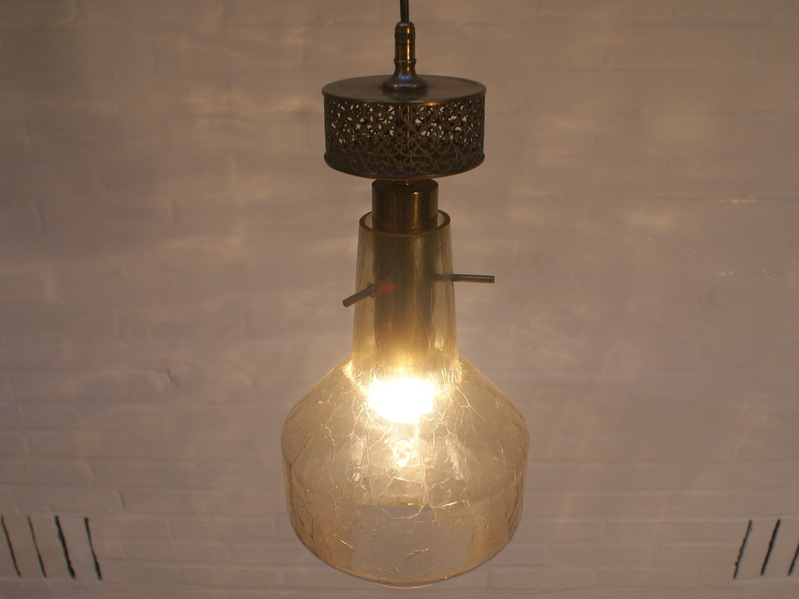 vintage german broken glass lamp for sale at pamono
