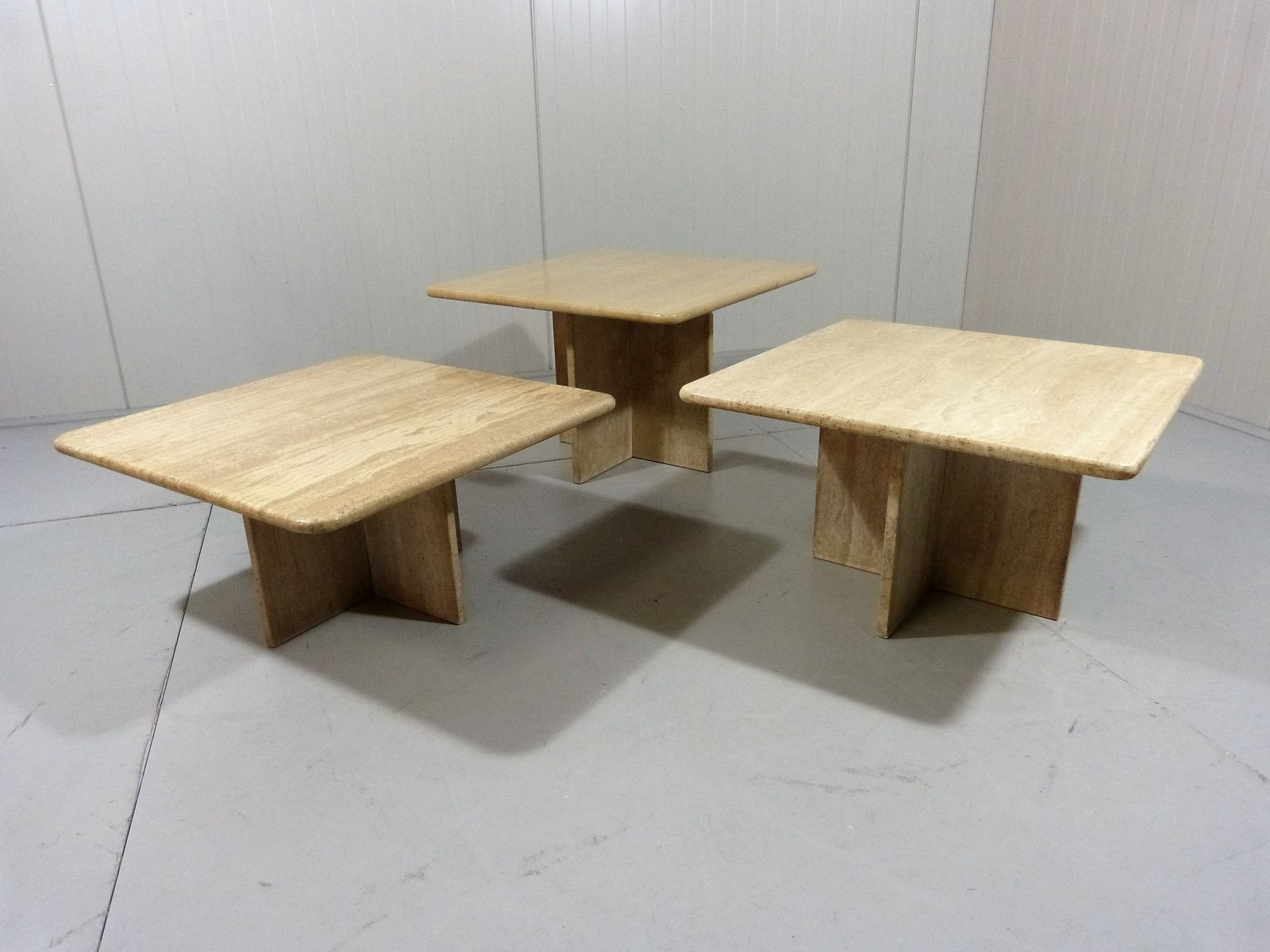 Limestone Coffee Tables Side Tables Set Of 3 For Sale At Pamono