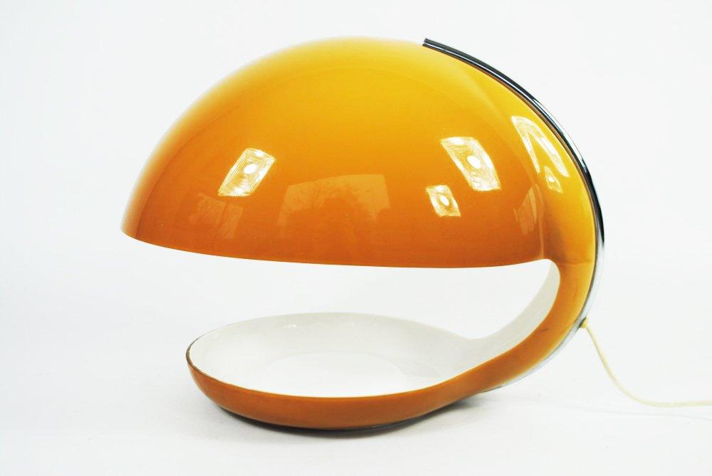 lampe de bureau vintage orange en plastique par harvey guzzini pour guzzini en vente sur pamono. Black Bedroom Furniture Sets. Home Design Ideas