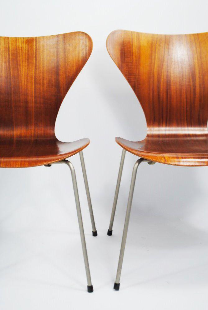 vintage 7 series stuhl aus teakholz von arne jacobsen f r fritz hansen bei pamono kaufen. Black Bedroom Furniture Sets. Home Design Ideas