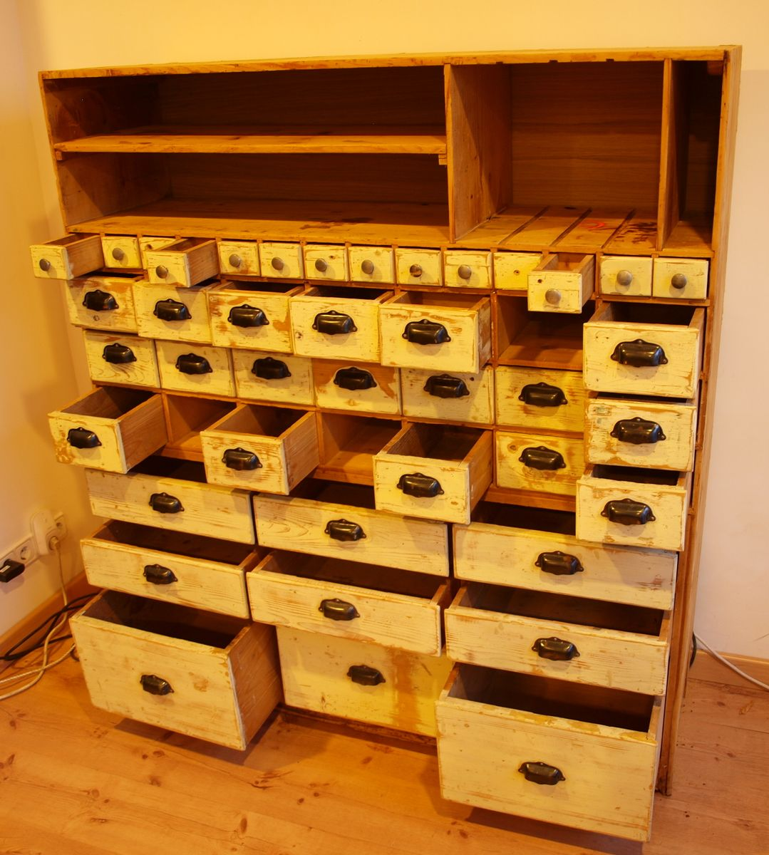 Vintage industrial workshop cabinet with drawers for sale for Kitchen drawers for sale
