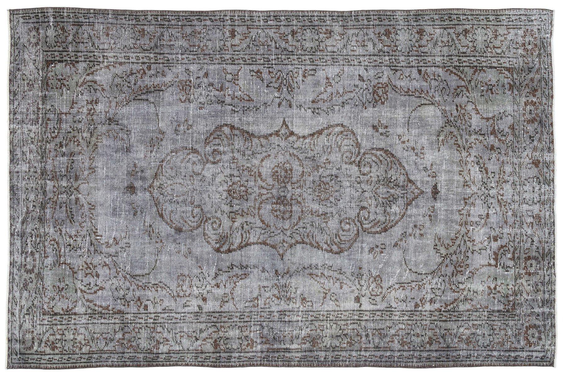 tapis turc vintage bleu gris en vente sur pamono. Black Bedroom Furniture Sets. Home Design Ideas