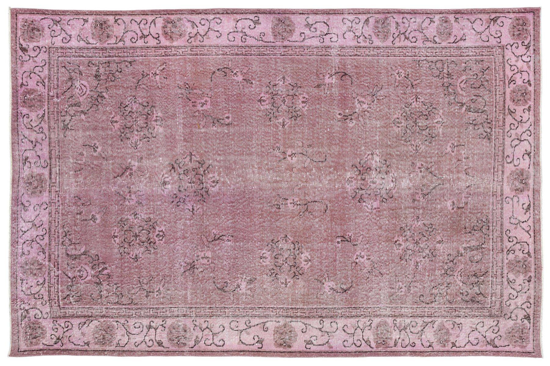 Vintage Turkish Pink Overdyed Rug For Sale At Pamono