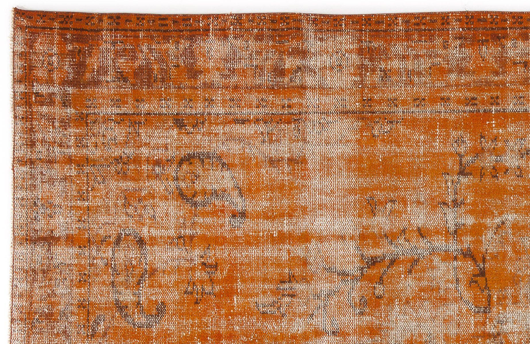 Tapis turc vintage orange délavé en vente sur pamono