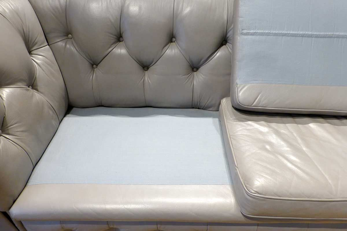 Vintage 2 sitzer sofa aus grauem leder bei pamono kaufen for Sofa 7 sitzer