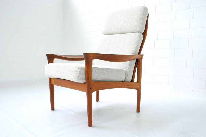 d nischer teakholz sessel hochlehner von niels eilersen 1960er bei pamono kaufen. Black Bedroom Furniture Sets. Home Design Ideas