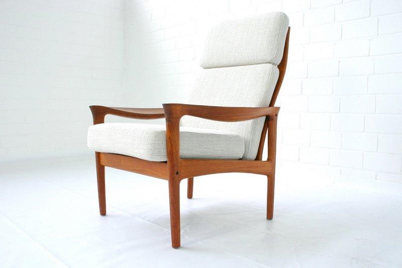 d nischer teakholz sessel hochlehner von niels eilersen. Black Bedroom Furniture Sets. Home Design Ideas