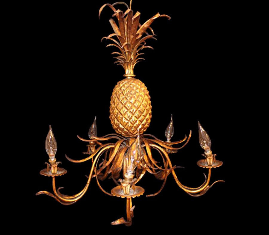 chandelier ananas 1940s en vente sur pamono. Black Bedroom Furniture Sets. Home Design Ideas