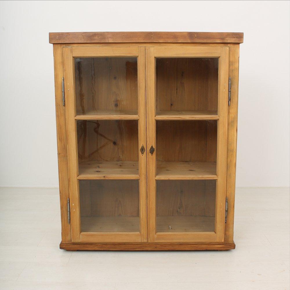antique spruce fir vitrine 1900s for sale at pamono. Black Bedroom Furniture Sets. Home Design Ideas